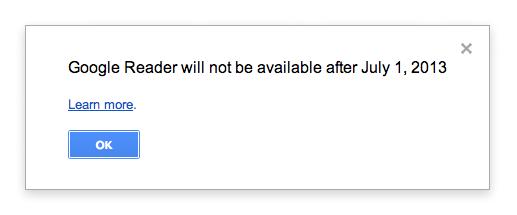 Google is shutting down Google Reader